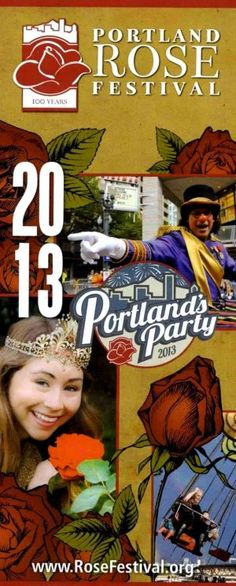 Portland Rose Festival Calendar of Events! Going on now! #Portland #PortlandRoseFestival #Brochure