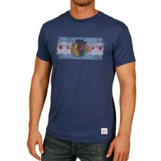 Chicago Blackhawks City of Chicago Men's Royal T-Shirt by Retro Brand | SportsWorldChicago.com