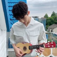 Winwin who plays in the ukulele Thanks ♡ Nct Winwin, Ideal Man, Stylish Boys, Think, Kpop, Light Of My Life, Boyfriend Material, Taeyong, Jaehyun
