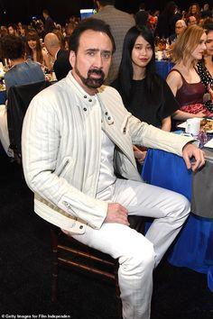 Nicolas Cage and Riko Shibata attend the 2020 Film Independent Spirit Awards, Santa Monica, California, 2020 Ncis Stars, Nicolas Cage, Beautiful Girl Names, White Zip Ups, Spirit Awards, New Girlfriend, Asian American, New York Street, New Relationships