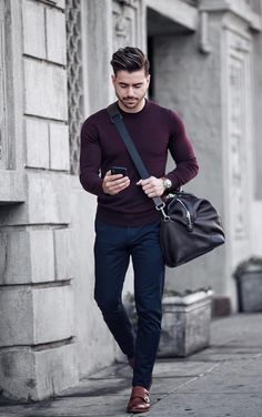 Mens office fashion - 58 Stylish Business Casual Outfit for Men in Fall Outfit Hombre Casual, Outfits Casual, Stylish Mens Outfits, Mode Outfits, Winter Outfits, Spring Outfits For Men, Semi Formal Outfits, Simple Outfits, Mens Office Fashion