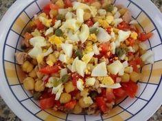 Hoy cocinamos .....: Ensalada de garbanzos y tomate