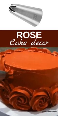 Use piping nozzle for beautiful rose cake decoration # cake designs Rose cake design Cake Decorating For Beginners, Creative Cake Decorating, Cake Decorating Videos, Cake Decorating Techniques, Creative Cakes, Cookie Decorating, Cake Decorating Designs, Decoration Patisserie, Dessert Decoration