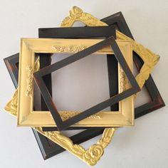 shabby chic wood frames gray and mustard 8x10 by MySugarBlossom, $45.00