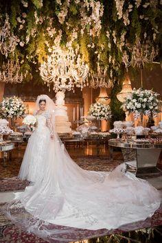 Casamento de luxo: noiva tradicional
