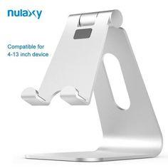 15581c5b6c3 Nulaxy Desktop Holder For Tablet Aluminium Alloy Adjustable Hinge Holder  For Mobile Phone Stands Plus For iPad Dock Phone Holder