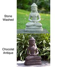 @Overstock.com - Volcanic ash Peaceful Royalty Statue (Indonesia) - Add a bit of serenity to an outdoor space with a decorative outdoor Buddha statue. It has a rubberized base to protect the concrete and basalt composition along with being waterproof. The waterproofing protects the material in all weather conditions.  http://www.overstock.com/Worldstock-Fair-Trade/Volcanic-ash-Peaceful-Royalty-Statue-Indonesia/6778530/product.html?CID=214117 $79.99