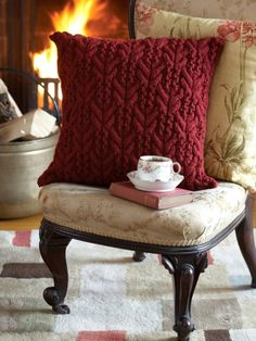 Gorgeous Textures Pillow | Yarn | Free Knitting Patterns | Crochet Patterns | Yarnspirations