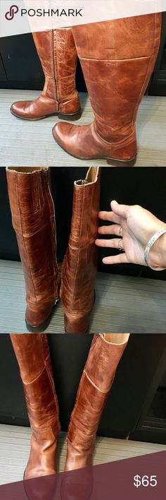 "Steve Madden Boots Brown Steve Madden boots! In good condition! Just a little wear-pictures shown are true to wear! 18.5"" tall Steve Madden Shoes Over the Knee Boots"