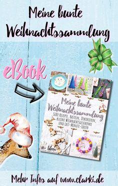 eBook: Meine bunte Weihnachtssammlung: Süße Rezepte, Basteln, Dekorieren, kleine Weihnachtsgeschenke und Last-Minute-Ideen von der Kreativ-Autorin Kathleen Lassak.  #weihnachten #geschenke #bastelbuch #bastelnmitkindern #rezepte  #backen   (enthält unbezahlte Werbung)  |Cover-Gestaltung, Pinerstellung, vereinzelte Fotos auf dem Cover: Kathleen Lassak | vereinzelte Cover-Fotos und -Illustrationen von freepik.com| Do It Yourself Inspiration, Last Minute, Bunt, Bullet Journal, Christmas, Cover, Pictures, Small Christmas Gifts, Baking Recipes For Kids