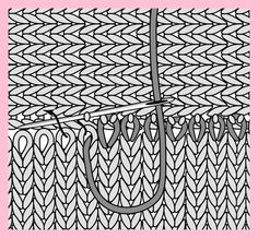 Knitting tutorial - How to Graft Stitches Head to Side. Knitting tutorial - How to Graft Stitches Head to Side. This is so important if you want to graft dropped sleeves onto t. Knitting Help, Loom Knitting, Knitting Stitches, Hand Knitting, Knitting Patterns, Crochet Patterns, Knitting Machine, Vintage Knitting, Stitch Head