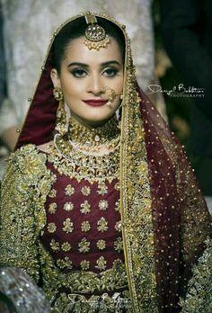 Aiman khan on her Barat Pakistani Wedding Outfits, Pakistani Dresses Casual, Bridal Looks, Bridal Style, Wedding Dresses For Girls, Girls Dresses, Monica Bellucci Photo, Wedding Pics, Wedding Album