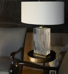 Opaline Block Lamp #Silia #home #lamp #plexiglass #lucite #luxury #design #madeinitaly