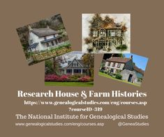 Course for House & Farm History Research. #HouseHistory #FarmHistory #genealogy #familyhistory Quitclaim Deed, Research Websites, Homestead Act, Liberty Home, Sterling Homes, Pacific Homes, Chicago House, Vital Records