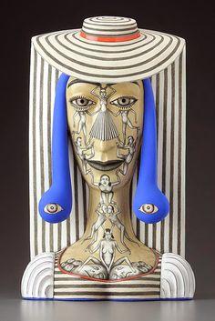 Juxtapoz Magazine - New Ceramic Work By Sergei Isupov Contemporary Sculpture, Contemporary Art, Ceramic Sculpture Figurative, Chandelier Art, Art Corner, Paperclay, Ceramic Artists, Art Design, Porcelain Ceramics