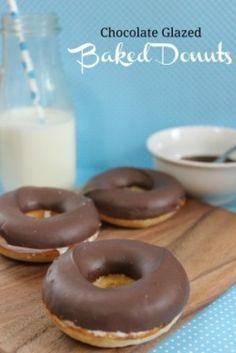 Chocolate Glazed Baked Donut Recipe