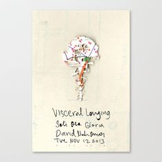 Visceral Longing  Stretched Canvas by David Nuh Omar - $85.00
