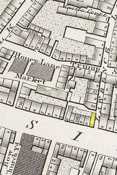 5-cheapside-from-horwood-map London Map, Old London, Old Maps, Diagram, Crime, Detail, Antique Maps, Old Cards, Fracture Mechanics