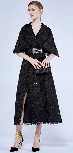 d629e6ec6dd Chic Robe de soirée noire col v en sequin avec ceinture vintage