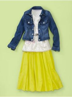 hmmm maybe I will get that jean jacket this year to wear with my bright orange skirt :)