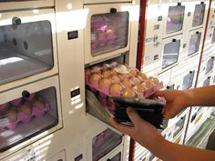 Unusual Japanese Vending Machines - raw (?) eggs