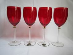 Ruby Red Wine Glasses Italy New Cristalleria Fumo Red Wine Glasses, Italy News, Crystal Glassware, Ruby Red, Crystals, Elegant, Tableware, Home, Classy