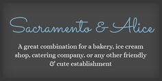 10 Fresh Font Combinations - Sacramento & Alice   New font combo for business card?