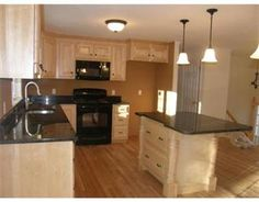 split entry home kitchen remodel -