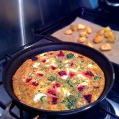frittata Olive oil 2 medium potatoes some dried herbs and spices (I ...