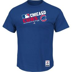Men's Chicago Cubs Majestic Royal Big & Tall Authentic Collection Official Team Choice T-Shirt