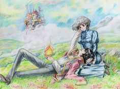 Howl's Moving Castle Artwork. I love a good traditional piece and this is amazing work!