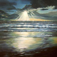 Acrylmalerei - Far Away...2 / 148 cm B. x 153 cm H. - ein Designerstück von Peter-Nottrott bei DaWanda