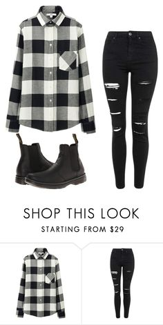 """Untitled #25"" by davidsonindiana ❤ liked on Polyvore featuring Uniqlo, Topshop, Dr. Martens, women's clothing, women, female, woman, misses and juniors"