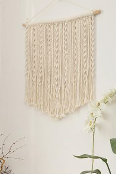 Simple and classic, looks great from every side, I love the streamline of this one, the size and color could be customized #weddingbackdrop #weddingdecor #weddingmural #macramewallhanging #fiberwallart #wovenwallhanging #bohemiandecor #vintagedecor #largewallhanging #longwallhanging #macramecurtain #interiordecor #giftsforher #handmadegifts #Etsy #etsyfinds #modernmacrame #macramemaker #livingroomdecor #dormdecor #nurserywallhanging #nurserydecor #housewarminggifts #macramepattern… Hippie Style Rooms, Hippie Room Decor, Boho Bedroom Decor, Boho Decor, Hippie Bedrooms, Large Macrame Wall Hanging, Macrame Plant Hangers, Hanging Tapestry, Hippy Room