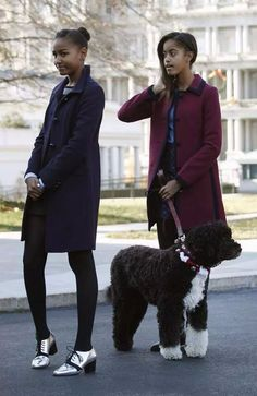 THE FIRST DAUGHTERS MALIA AND SASHA OBAMA