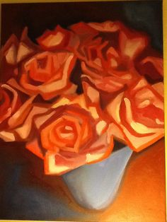Roses 1 oil on canvas