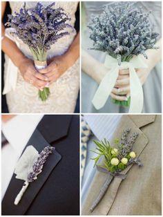 lavender bouquets e buttonholes