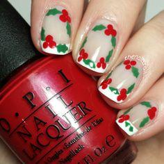 Super cute #nailpolish! Holly outlining a French manicure #nails #notd #nailart