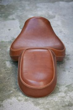 Leather motorcycle seat