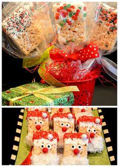 Easy Christmas Rice Krispie Treats | Pink Polka Dot Creations