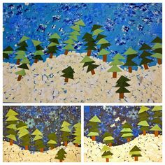forest collage using shapes - Google Search