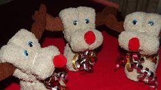 Washcloth Reindeers