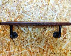 StandingWaveWoodwork on Etsy Pipe Shelves, Hanging Shelves, Display Shelves, Yorkshire, Wood Wall Shelf, Wall Shelves, Copper Shelf Brackets, Loft Estilo Industrial, Victorian Style Bathroom