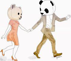 animals, couple, cute, panda, teddy bear