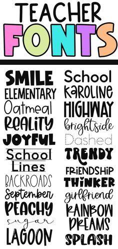 Fancy Fonts, Cool Fonts, Computer Font, Cricut Fonts, New Classroom, Cricut Tutorials, Handwritten Fonts, Teacher Appreciation, Typography