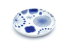 KUTANI CHOEMON: Round Dish/Small - Flower Collection(丸皿花尽くしS)