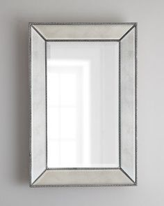 horchow  36.5x48x3.5  Beaded Wall Mirror