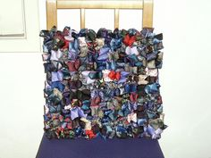 33 Creative Ways of Recycling Old Ties That Will Inspire You • Recyclart Diy Necktie Projects, Tie Crafts, Sewing Crafts, Sewing Ideas, Sewing Projects, Craft Projects, Old Neck Ties, Old Ties, Diy Upcycling