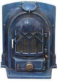 1930s Art Deco Cast Iron Stove - MULTI-FUEL - happy stoves - 4 kw