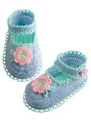 Delilah Pearl Collection Thread Baby Shoes - Electronic Download